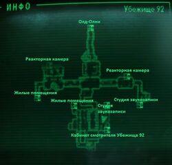 FO3 Vault 92 entrance intmap