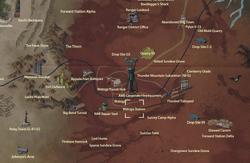 Watoga Station map