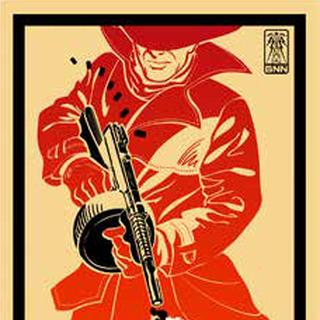 Рекламний плакат Срібного Плаща