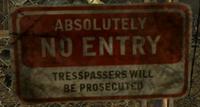 FoNV No Entry