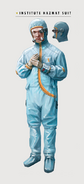 Art of Fallout 4 hooded cleanroom suit