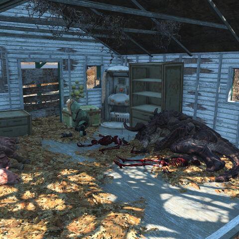 Службовий будиночок з сплячим Кігтем смерті
