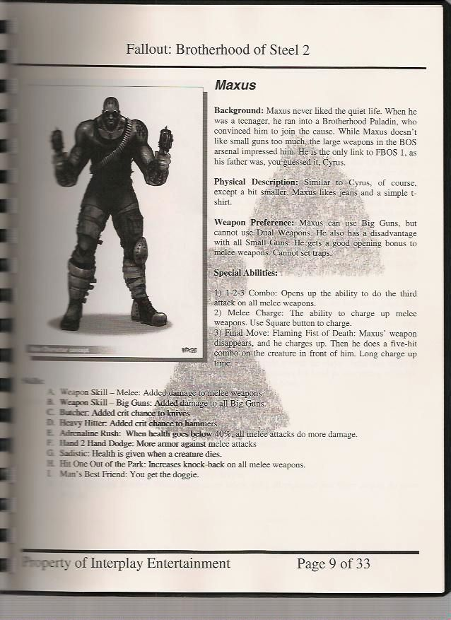 Image  Fobos Design Document Jpg  Fallout Wiki  Fandom