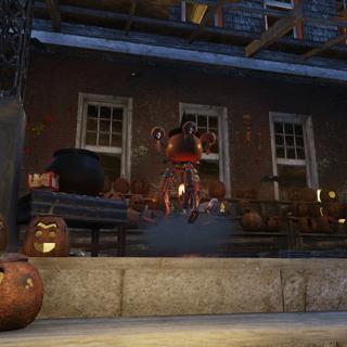 Джек на ганку гарбузового будинку