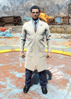 Cabot's lab coat