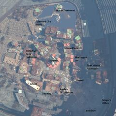 Aerial map of Diamond City