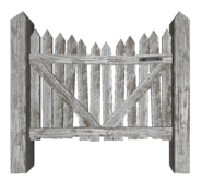 FO4 Picket fence gate