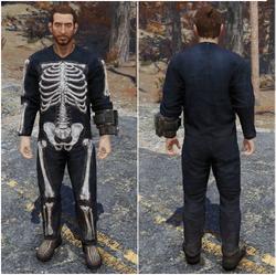 FO76 Костюм скелета на Хеллоуин