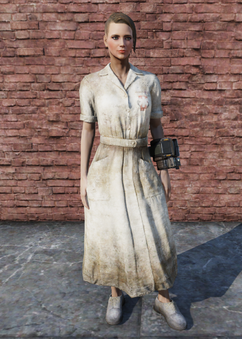FO76 Asylum Worker Uniform Weathered Female