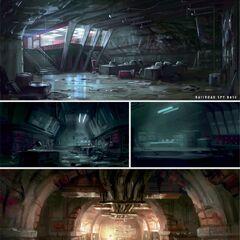 Crypt base concept art