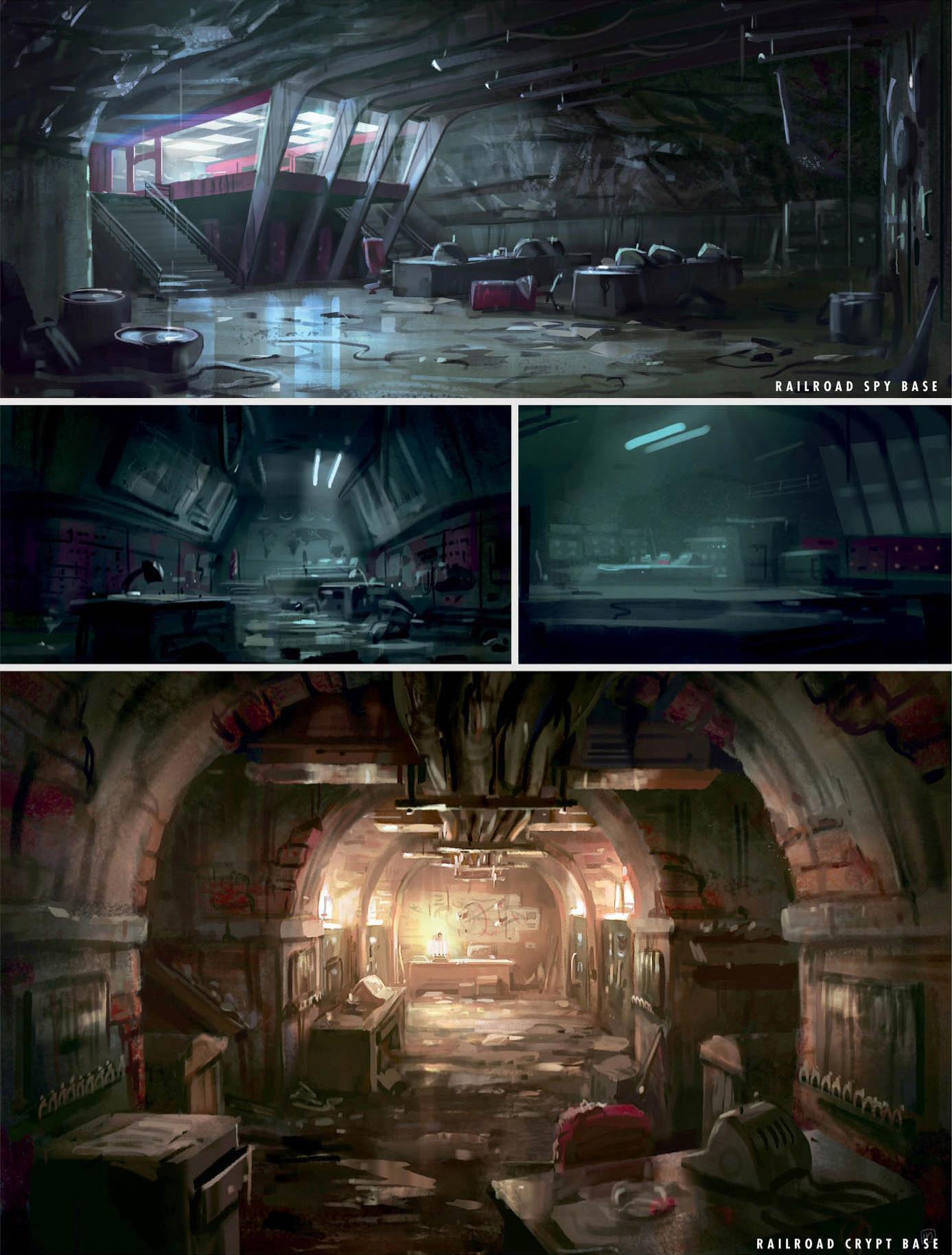 Railroad HQ crypt concept art