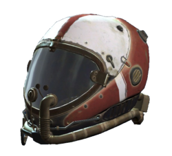 Red flight helmet