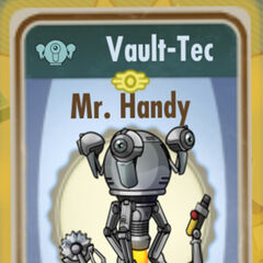 Mister Handy card from <i>Fallout Shelter</i>