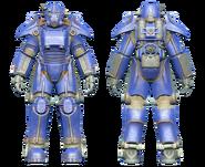 FO4CC T-45 power armor blue