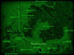 FO4 Оружейный магазин Квинси (карта мира)