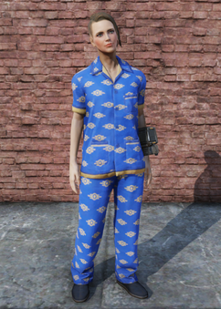 FO76 Vault-Tec Pajamas Female