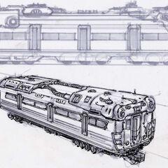 Вагон метро. Концепт-арт.