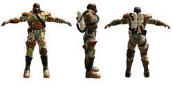 Environmental armor (f,s,b) 3d model