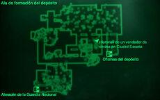 Esp AGN Ala de formación del depósito Mapa Loc