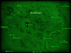 FO4 Спутниковая станция ВВС США «Оливия» (карта мира)