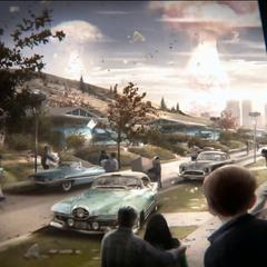 Концепт-арт «Бомбардування Бостона» (Bethesda 2015 E3 Showcase)
