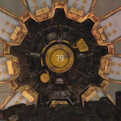 The vaults external blast door