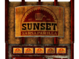 Sunset Sarsaparilla vending machine
