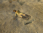 Resident dead wasteland with a laser rifle