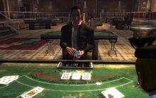 Tops Blackjack dealer