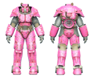 FO4CC X-01 power armor Slocum's Joe pink