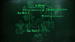 The Pitt Downtown loc map