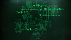 The Pitt Downtown loc map