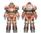CC-00 power armor Hot Rod flames paint