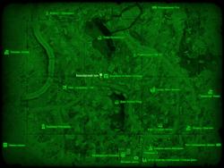 FO4 Боксёрский зал (Галлериа) (карта мира)