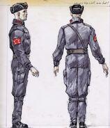 Kombinezon chińskiego komandosa szkic koncepcyjny