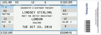 Lindsey Stirling ticket