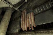 FNV Hoover Dam rec room pre-War flag