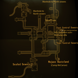 Central sewers local map