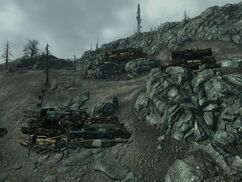 FO3 Raider wreckage fortifications
