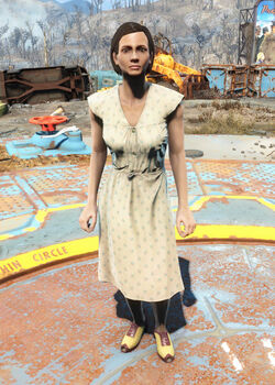 FO4Laundered cream dress