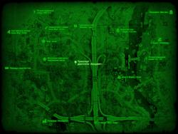 FO4 Транспорт двигателя «Аркджет» (карта мира)
