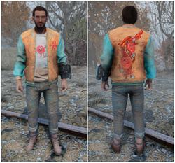 FO76 Оранжевые куртка и джинсы Бутылка и Мистер Крышка