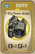 FoS T-45a Power Armor Card