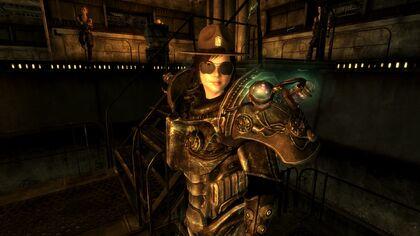 Helena in armor glasses