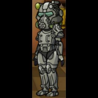 Female wearing T-60 power armor