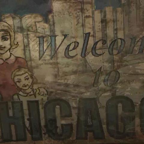 Вітальний плакат на в'їзді в Чикаго (вступний ролик)