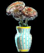 New teal vaulted vase