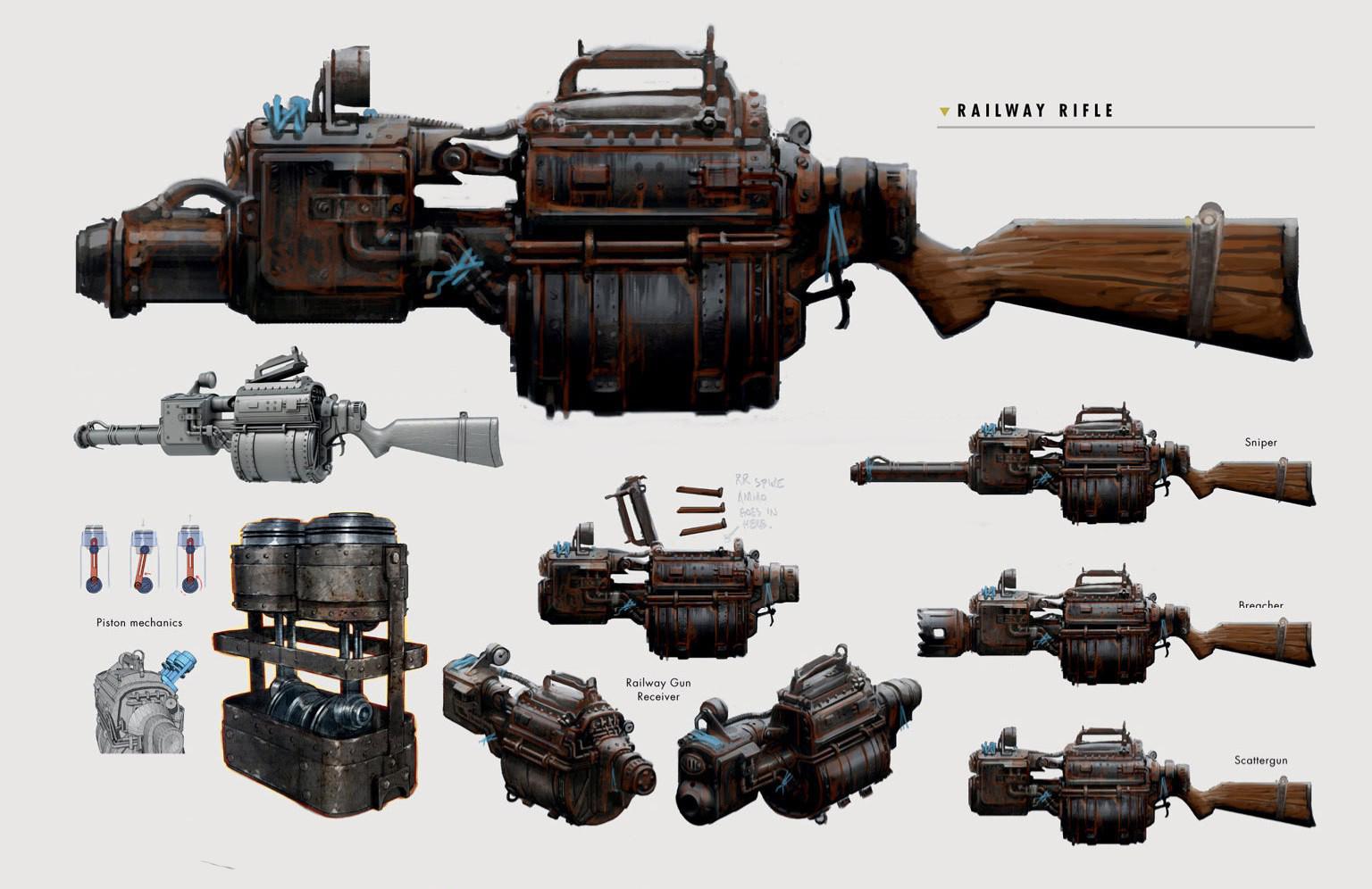 Art of FO4 Railway Rifle