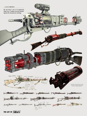 Art of Fo4 Laser musket concept art