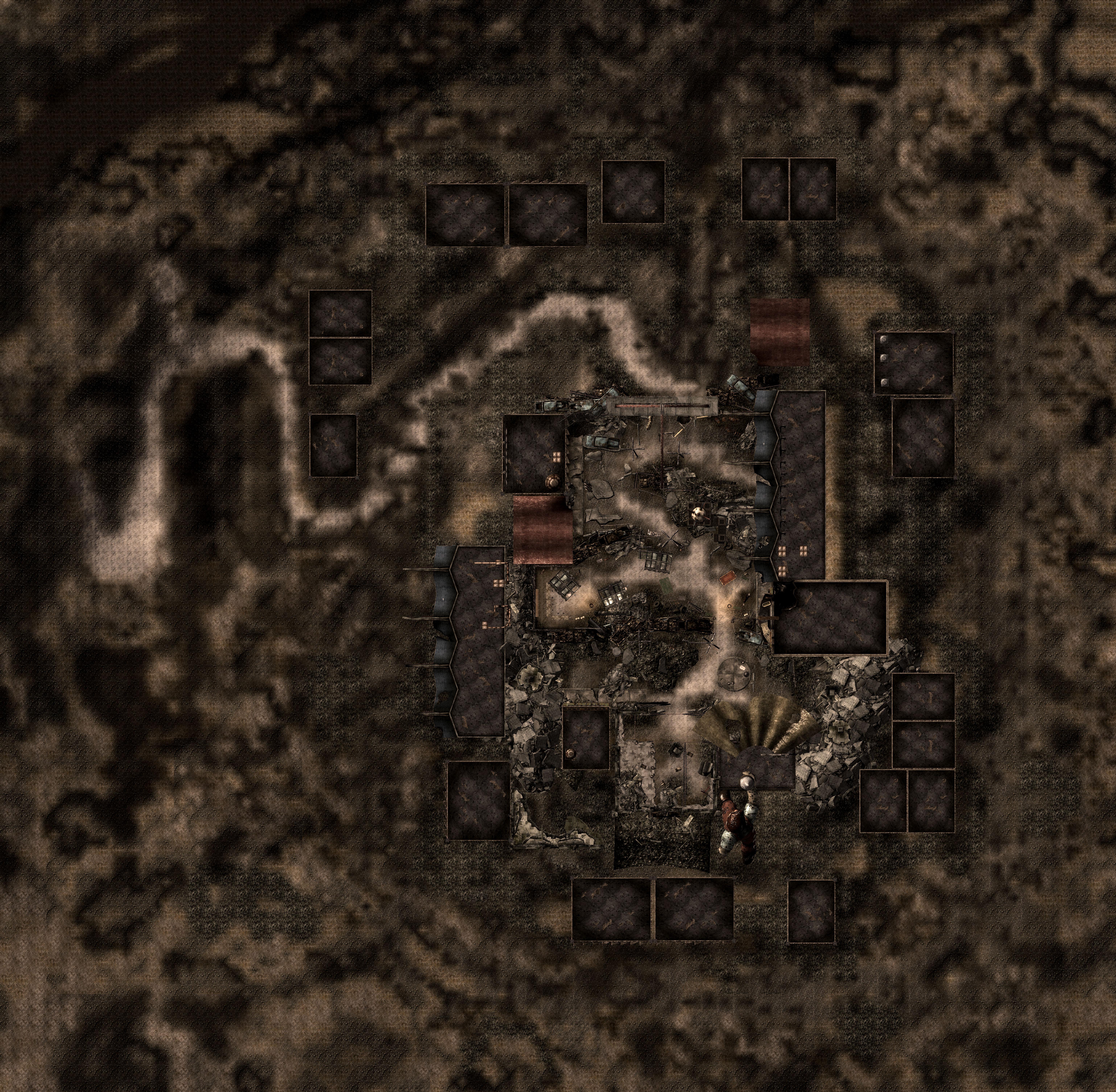 Paradise Falls map
